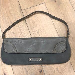 Handbags - Gray suede clutch